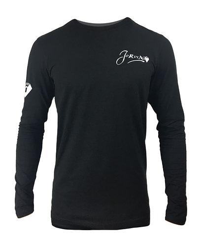 Black Noir Signature Long Sleeve Tee Shirt