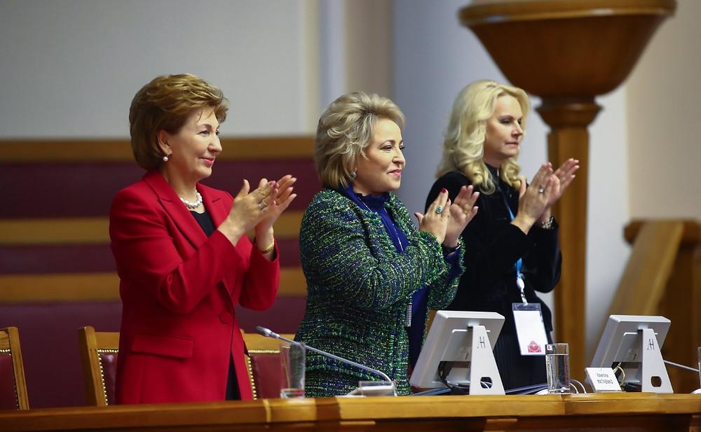 Галина Карелова, Валентина Матвиенко, Татьяна Голикова