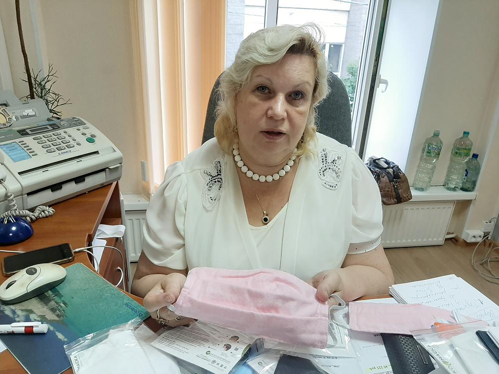 Светлана Молчанова с эко-маской