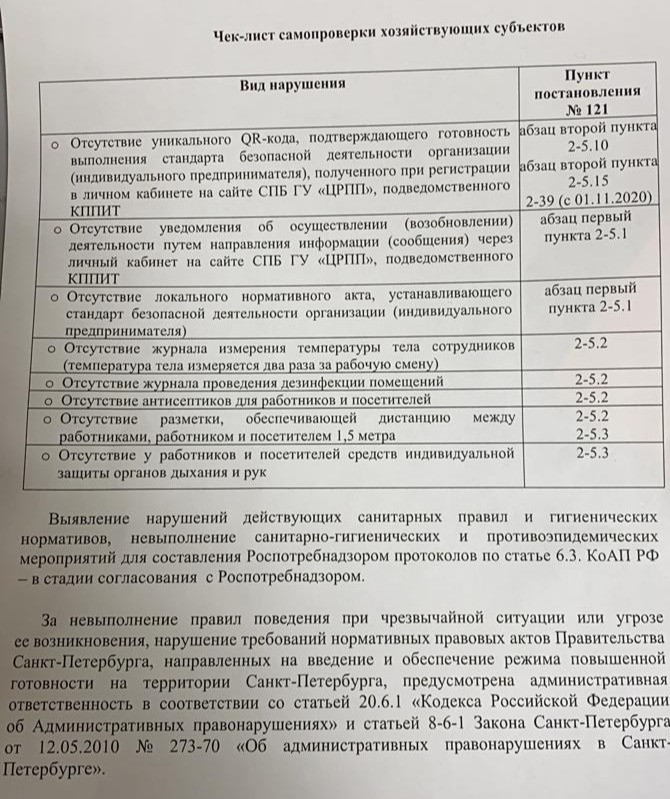 Чек-лист проверки ККИ