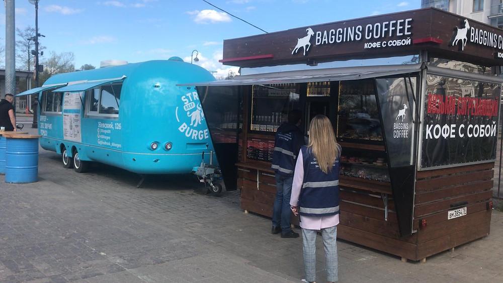 Инспекция ККИ кофейни на колесах на Крестовском острове