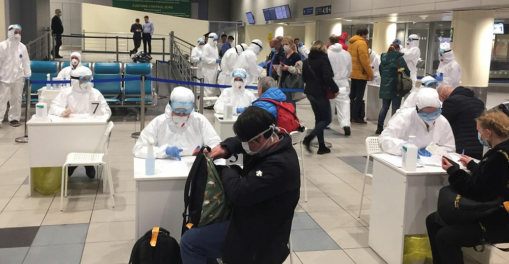 Пункт вакцинации в московском Домодедово