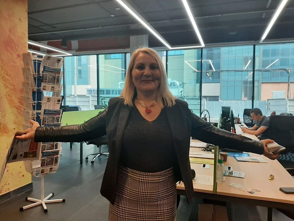 Елена Церетели, директор Фонда развития субъектов малого и среднего предпринимательства в Петербурге в новом допофисе
