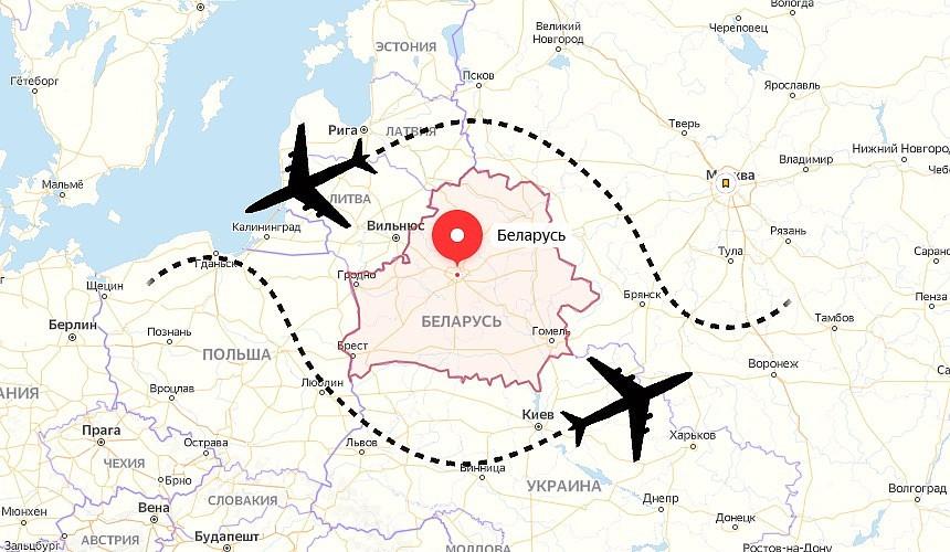 Так будет выглядеть облет Белоруссии. Иллюстрация: tourdom.ru