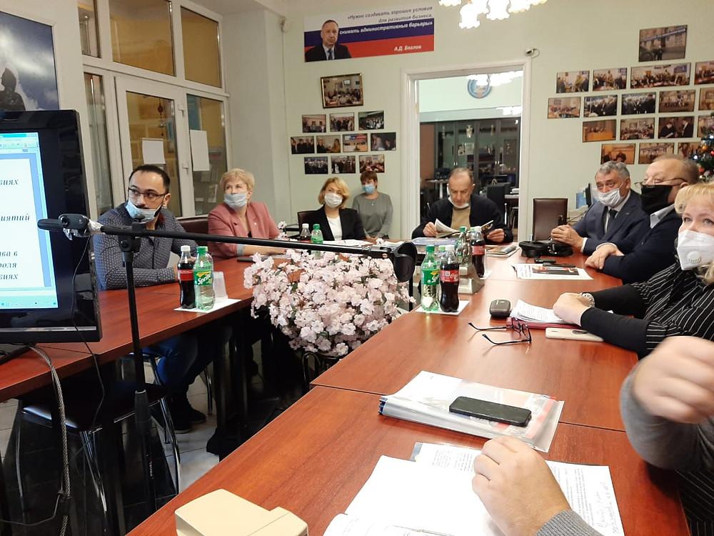 Принять участие в круглом столе форума предприниматели пришли в приемную Союза
