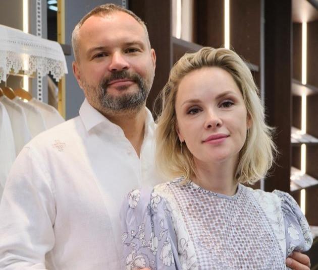 Антон Георгиев с супругой Александрой Георгиевой, главным дизайнером бренда