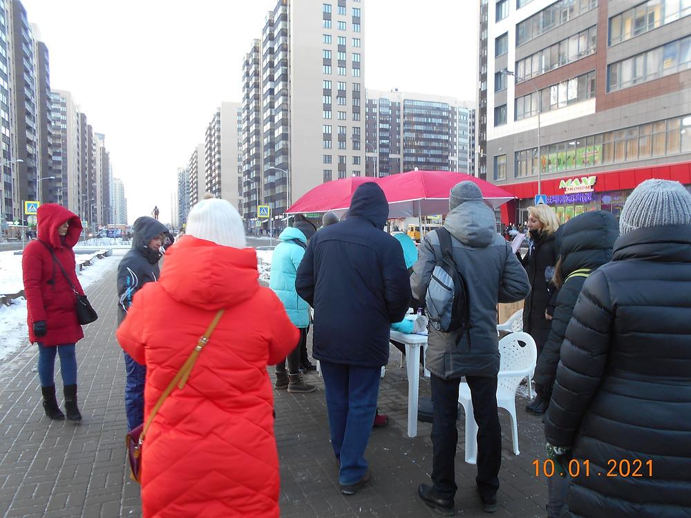 Сбор подписей против строительства на бульваре Менделеева