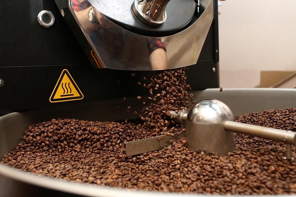 Обжарка кофе на производстве Il Mio в Петербурге