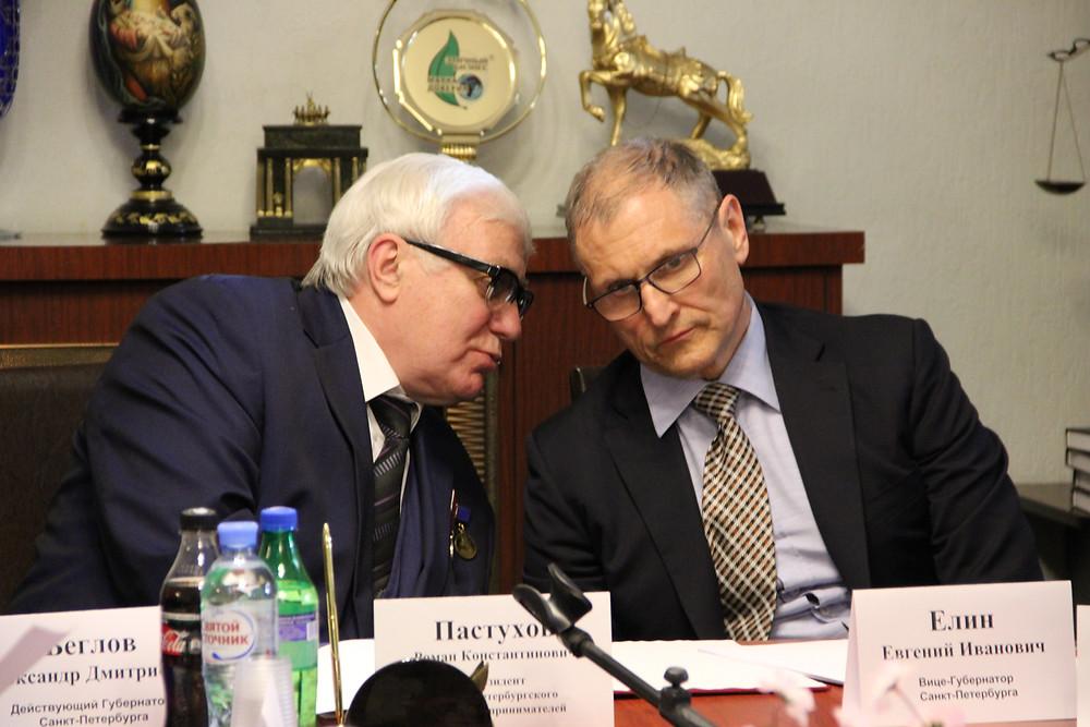 С Евгением Елиным в приемной Союза
