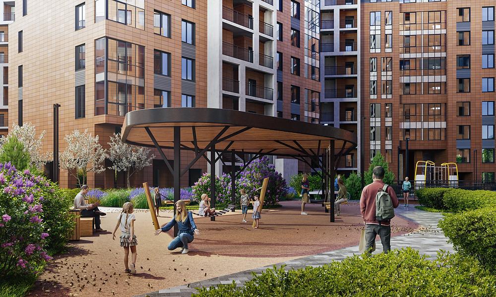 В новом комплексе должно быть достаточно места для прогулок и игр с детьми