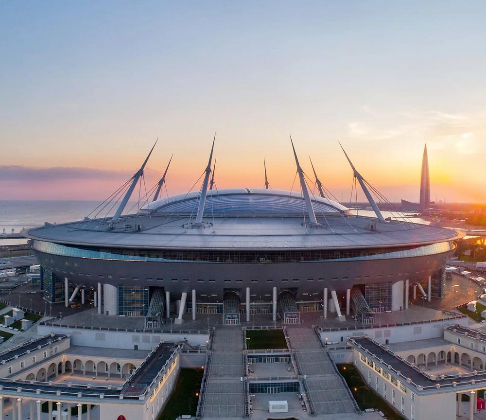 Газпром Арена - место проведения российской части Чемпионата Евро 2020