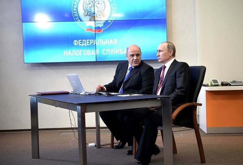 Михаил Мишустин, председатель правительства и Владимир Путин, президент РФ