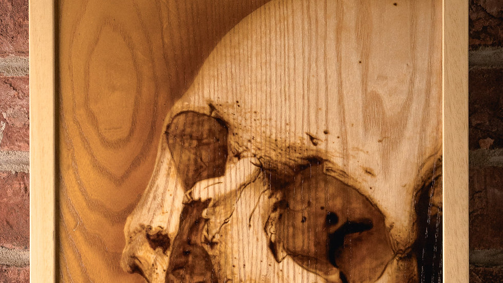 Skull 2: Artwork on Wood series