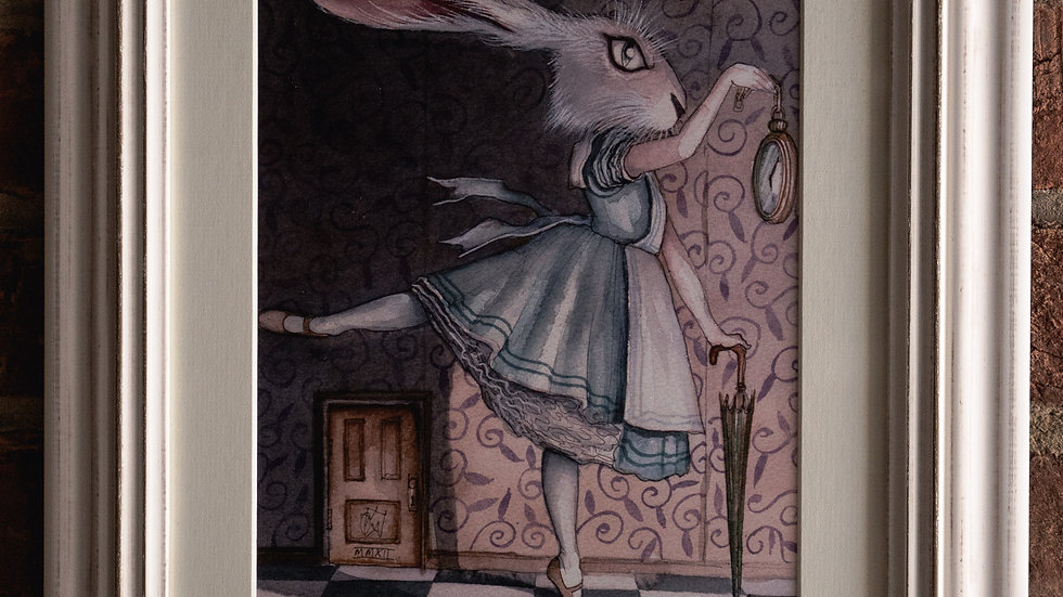 """Alice"" & ""White Rabbit"" Framed Priints"