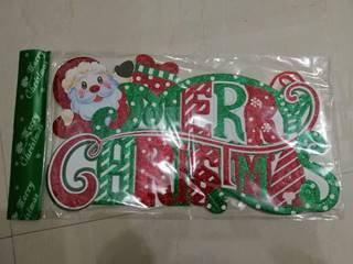 xmas hanging merry christmas 40*21cm