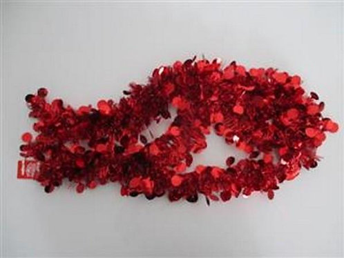 xmas garland tinsel red dots 2.7m