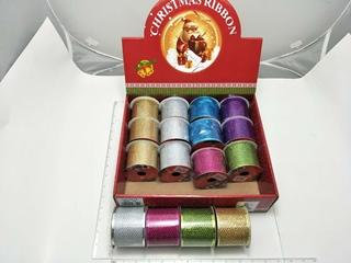mesh ribbon roll wired 6.3cmx 3yd ast