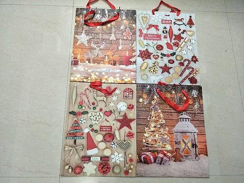 xmas gift bag L 30*39*12cm