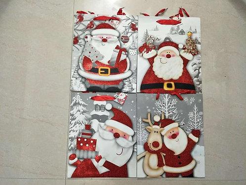 xmas gift bag santa M 18*24*8cm