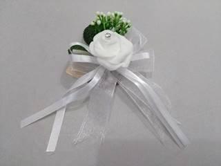 artificial flower brooch white