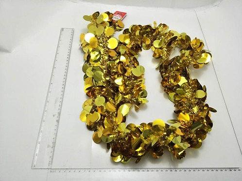 xmas garland tinsel gold dots 2.7m