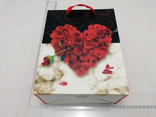 gift bag heart rose 3 siz m 18*23*10cm