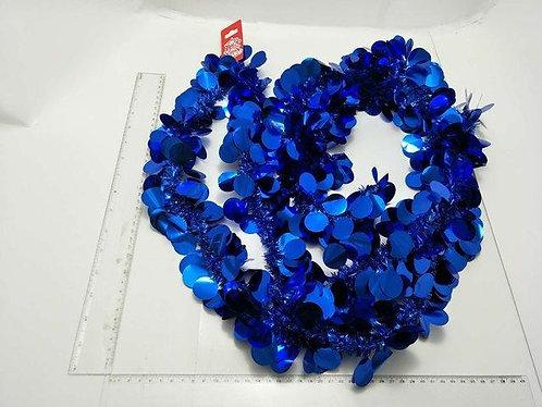 xmas garland tinsel blue dots 2.7m