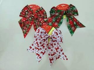 xmas deco ribbon 20cm 3asst