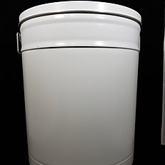 White Tin 6.5 Gallon