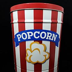 Popcorn Striped Tin 3.5 Gallon