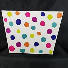 Large Confetti Dots Box