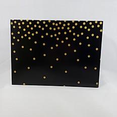 Black w/ Gold Dots