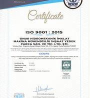 ONUR Hidromekanik - ISO 9001 English_000