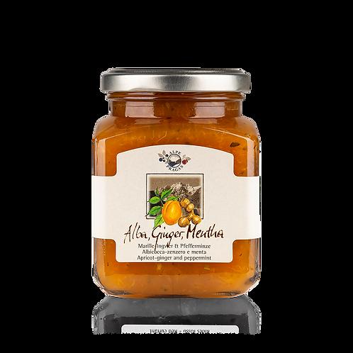 Alpe Pragas - composta di frutta Albicocca, Zenzero e Menta 335 g.
