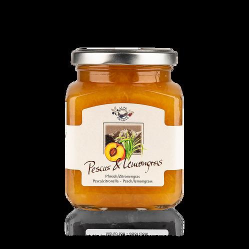 Alpe Pragas - composta di frutta Pesca e Lemongrass 335 g.