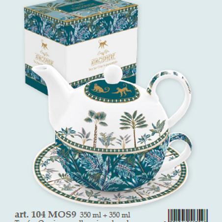 Tea for one (tazza con teiera e piattino) Monkey