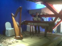 Arpa clásica y marimba