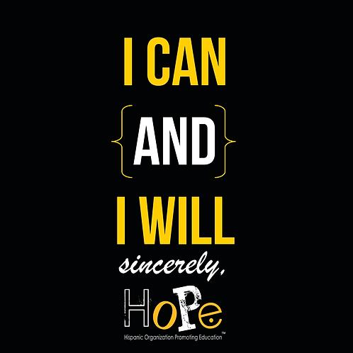 I Can & I Will T-shirt - Black