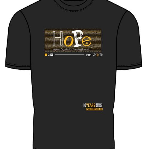 HoPe 10 Years T-shirt - Black