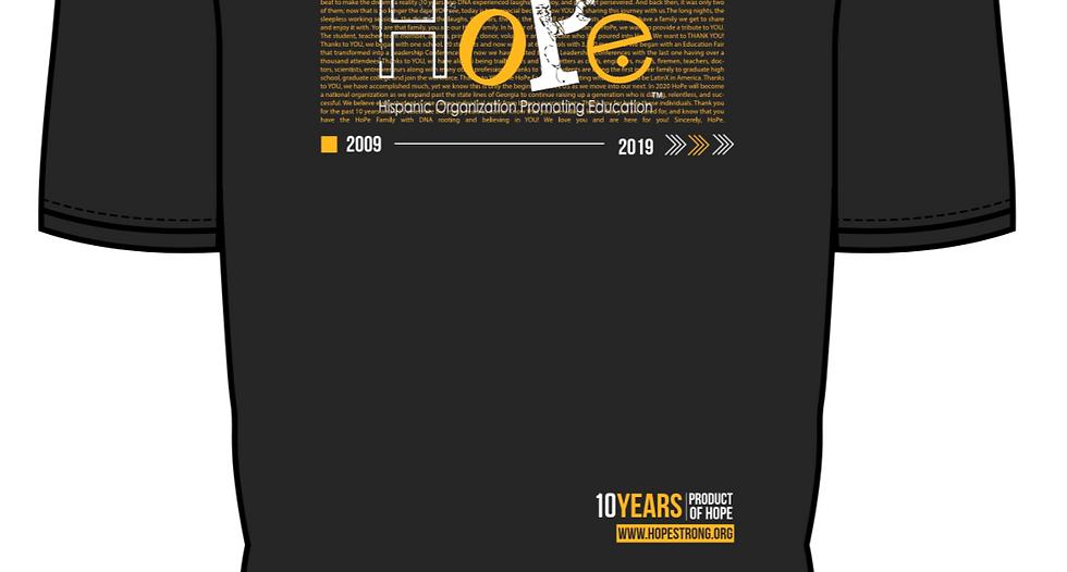 NL - HoPe 10 Years T-shirt - Black