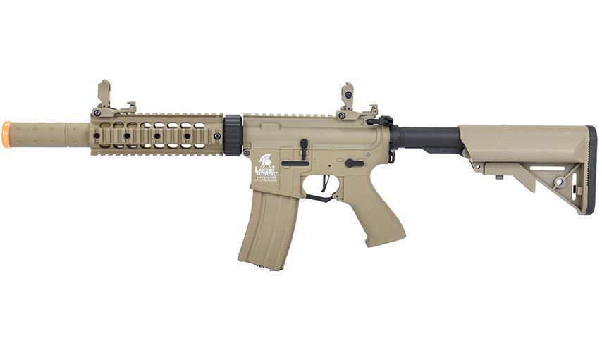 """Lancer Tactical LT-15 Hybrid Gen 2 M4 SD 7"""" Airsoft AEG (TAN)"""