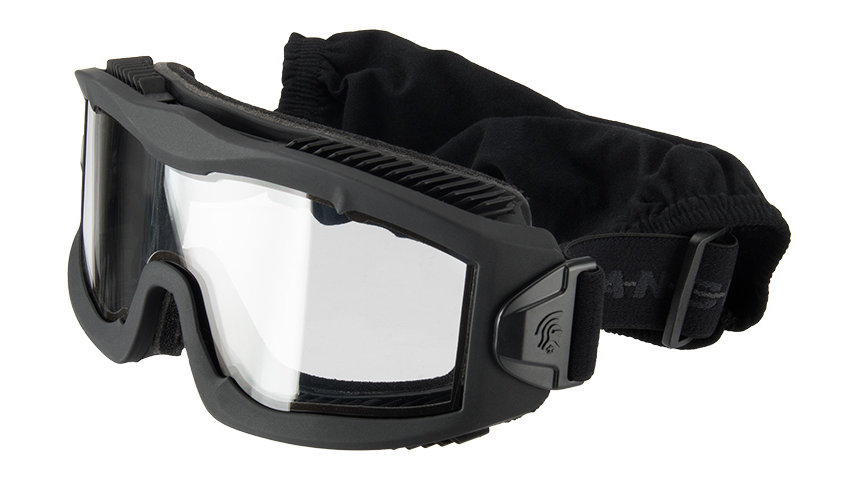 Lancer Tactical AERO Protective Black Goggles (CLEAR LENS)