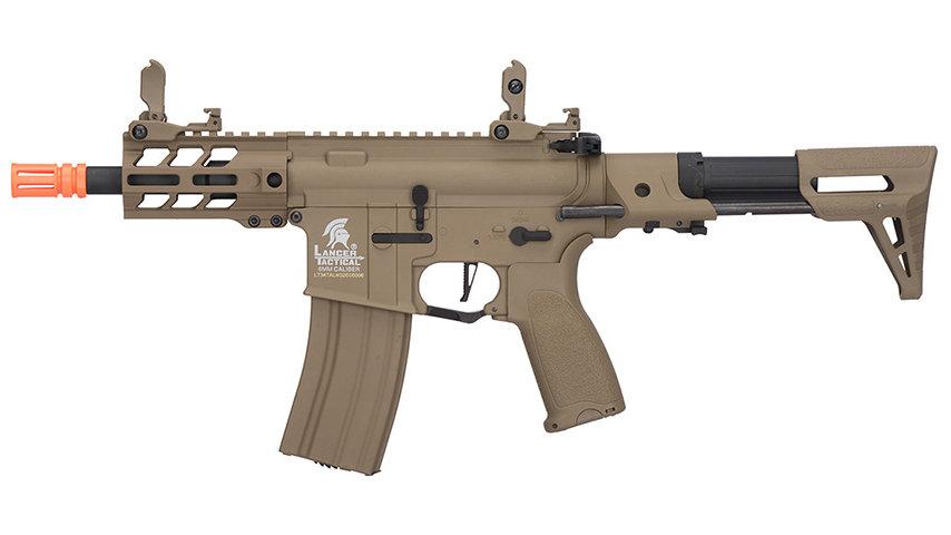 "Lancer Tactical Enforcer Hybrid Gen 2 BATTLE HAWK 4"" PDW AEG (TAN)"