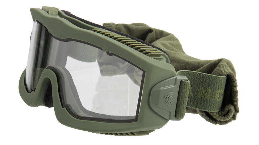 Lancer Tactical AERO Protective Green Goggles (CLEAR LENS)