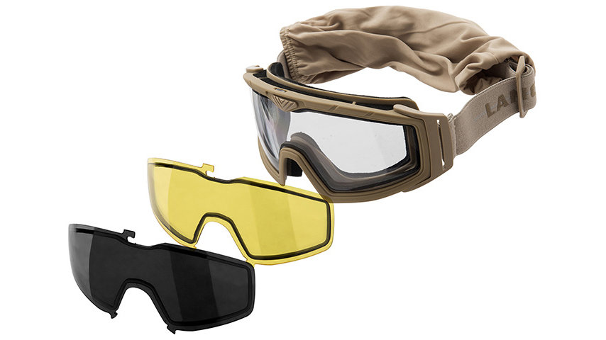 Lancer Tactical Rage Protective Tan Airsoft Goggles (SMOKE/YELLOW/CLEAR LENS)