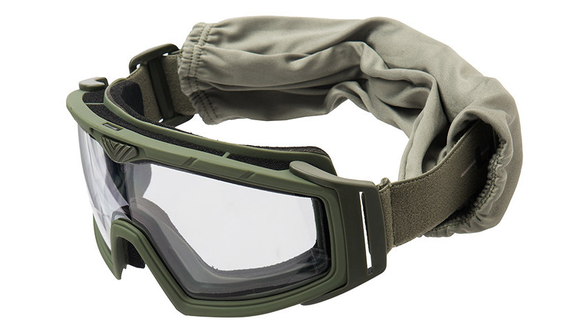 Lancer Tactical Rage Protective Green Airsoft Goggles (CLEAR LENS)