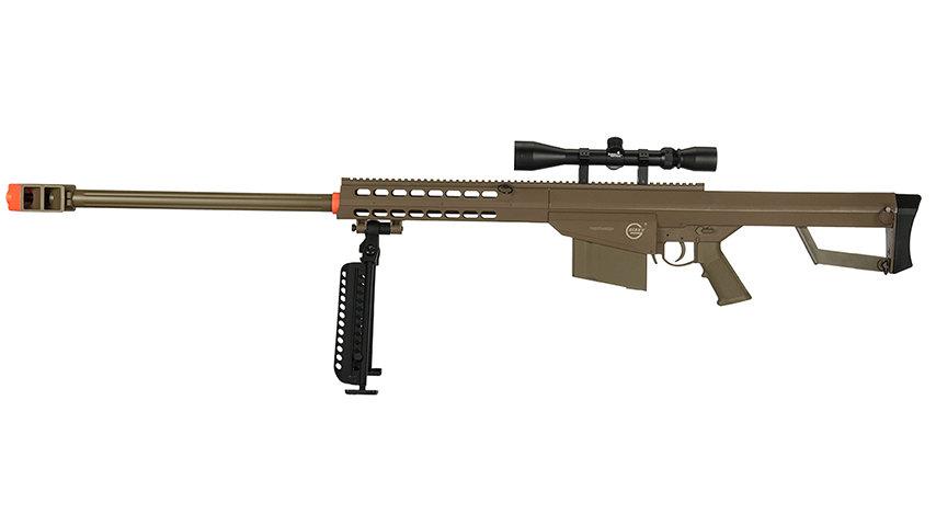 Lancer Tactical Airsoft M82 Spring Rifle w/ Scope & Bipod (TAN)