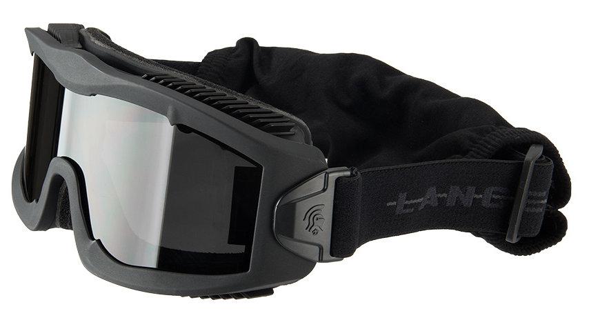 Lancer Tactical AERO Protective Black Goggles (SMOKE LENS)
