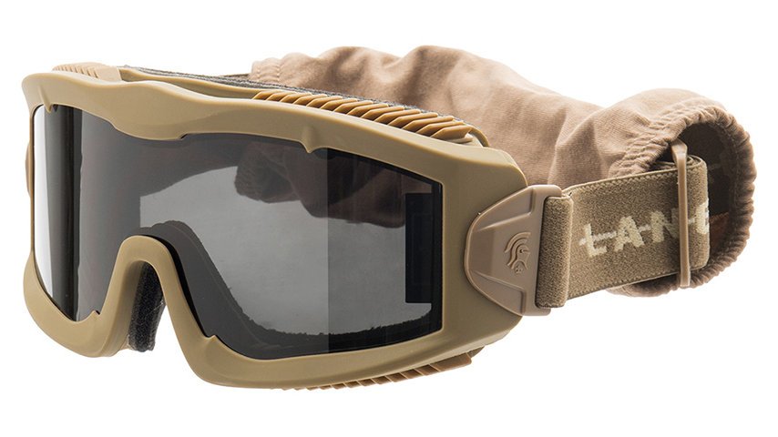 Lancer Tactical AERO Protective Tan Goggles (SMOKE LENS)
