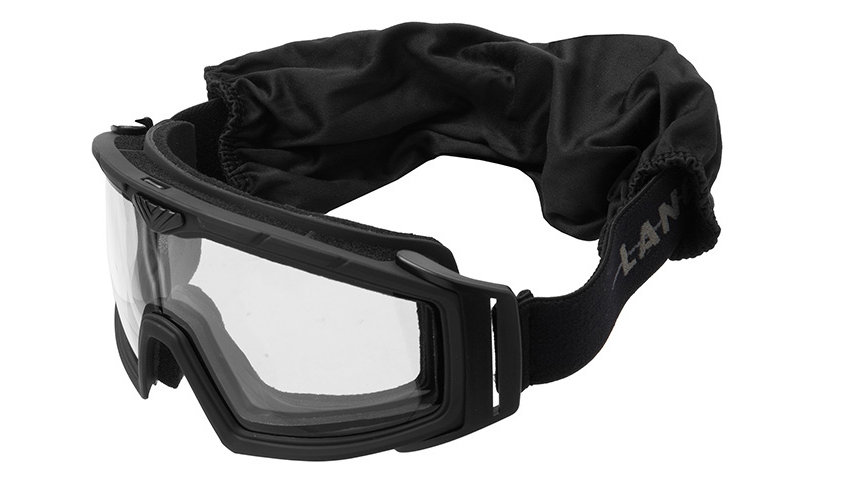Lancer Tactical Rage Protective Black Airsoft Goggles (CLEAR LENS)